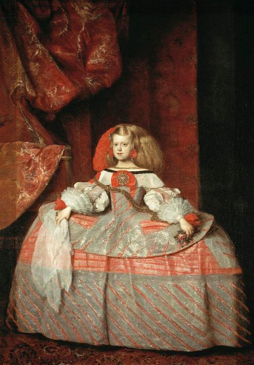 Juan Bautista Martínez del Mazo,La infanta Margarita en traje rosa,1663.M del Prado