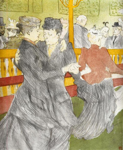 Toulouse Lautrec. Baile en Moulin Rouge 1897.Litografía en color.41x34cm. Institute National d ´histoire de l´art, Bibliothéque collection Jacques Doucet, Paris.
