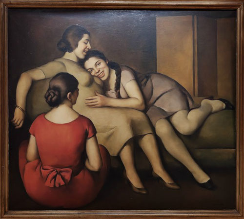 Malerba.Las amigas 1924.Visión coral de jóvenes mujeres,imágenes de una realidad familiar bellísima y llena de complicidad.