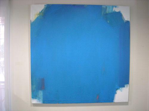 Paisaje interior.130x130cm.Acrílico sobre lienzo de Pilar Valeriano Correa.