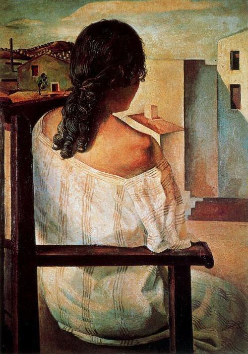 Dalí, Muchacha de espaldas, 1925