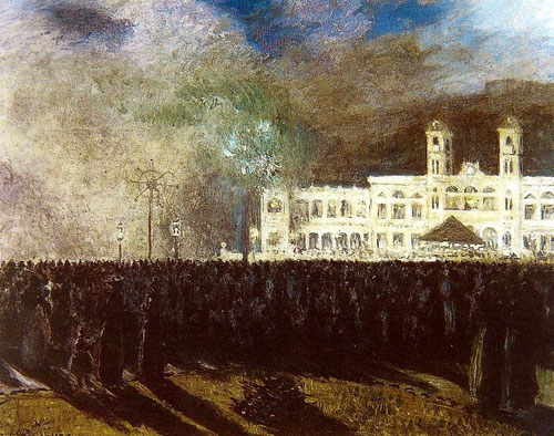 Fuegos artificiales (Casino de San Sebastian),1902.Óleo sobre lienzo.60x73cm.San Telmo Museoa.Donostia Cultura.