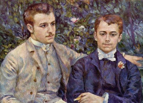 Charles y Georges Durand-Ruel 1882.Óleo sobre lienzo.Colección privada.