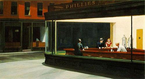 """Hopper, """"Nightwalks"""" La gran ausente, aunque no forma parte de la expo es de las más conocidas."""