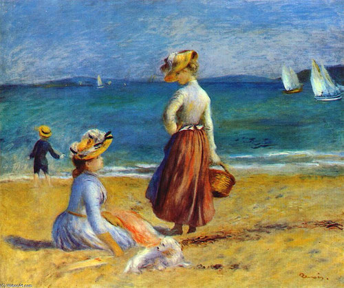Figuras en la playa,1890.Óleo sobre lienzo. 52x64cm.Nueva York.The Metropolitan Museum of Art.