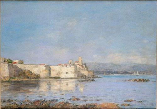 """Eugène Buudin.El Puerto de Antibes 1893.Musée d´Orsay,Paris. Profundizó en la comprensión de la luz mediterránea,residió en la ciudad provenzal""""La pintura no puede alcanzar esa luminosidad""""Ciudad fortificada"""