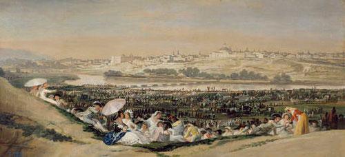 Goya.La pradera de San Isidro.1788.Óleo sobre lienzo.41cmx90cm