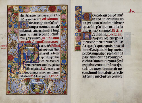 Misal  Rico de Cisneros, delata una especial sensibilidad hacia las artes del libro. Promovida por el Cardenal Cisneros de 1504 a 1519,Toledo se convierte en la nueva metrópoli del arte, guardado durante tiempo en la Biblioteca Catedralicia.