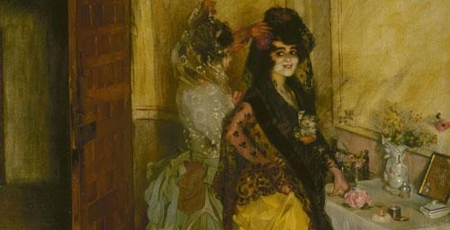"""Zuloaga.Preparativos para la corrida,1902.Óleo sobre lienzo.2013x210cm.Hermitage Museum..San Petersburgo.España era considerada un país exótico en el Romanticismo, """"lo español"""" esta de moda en Europa,busca una pintura más pura, no contaminada."""