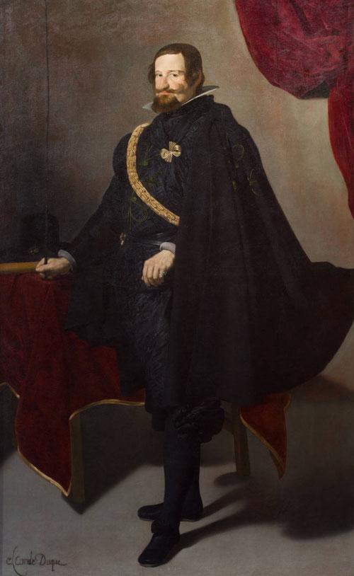 Velázquez, retrato al Conde-duque de Olivares,1625.Uno de los personajes más poderosos de su tiempo,valido de Felipe IV, inteligente, trabajado, inflexible con su programa de gobierno.Influencia de Caravaggio en la luz,combina toques barrocos.