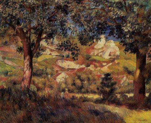 Paisaje de La Roche-Guyon 1887.Óleo sobre lienzo 47x55cm.México,Colección Perez Simon.