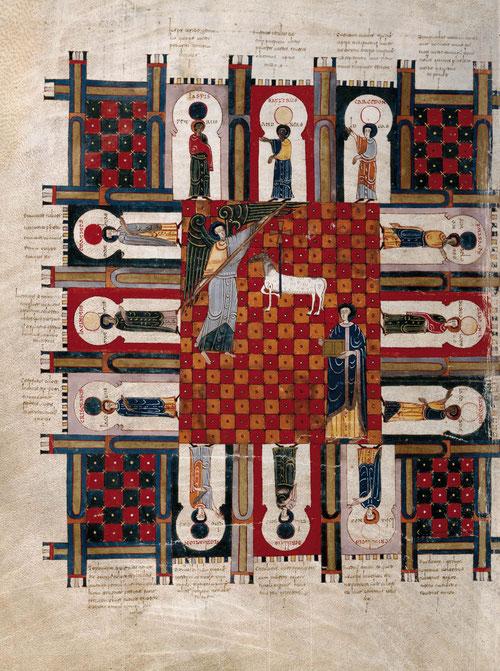 Se ignora el nombre del iluminador, aunque se siguen las pautas del signo cluniacense durante el reinado de Fernando I y Dña Sancha quienes ejercieron de comitentes y se utilizaron mensajes en clave política.Durante la guerra de Sucesión  fue requisado.