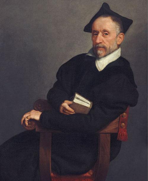 Giovanni Batista Moroni. Retrato de Tiziano 1575.Washington National Gallery. El maestro interrumpe la lectura volviéndose a nosotros, no sin antes posar el dedo índice en su lectura.