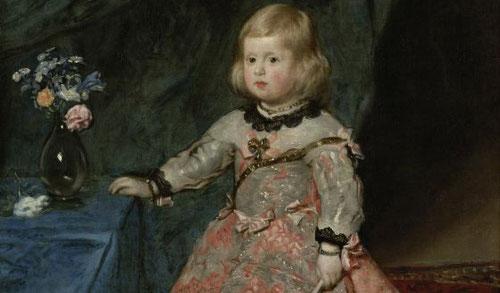 Velázquez,detalle de la infanta Margarita,1654.Pertenece al Museo de Viena, Kunsthistorisches Museum.La espontaneidad del modelo, las flores alusivas al nombre de la niña rosas,lirios y margaritas equilibrio y belleza cromática.