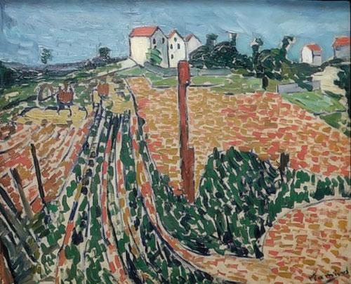 Maurice de Vlaminck. Camino entre huertos.1905.Kunstmuseum Winterthur.