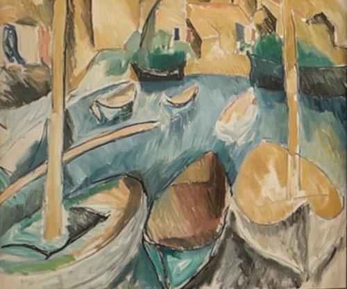 Raoult Dufy. Les barques aux Martigues. 1908.Museo Ziem,Martigues.
