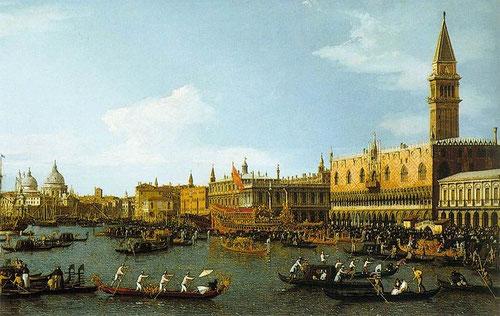 """Il canaletto.""""Il bucintoro"""" 1745-50."""
