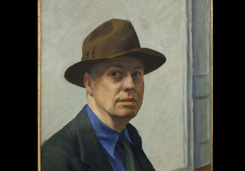 Edward Hopper, Autorretrato,1925-30. Óleo sobre lienzo.Museum of Americam Art, Nueva York.Representa como nadie el espíritu y la conciencia americana con dos etapas diferenciadas.