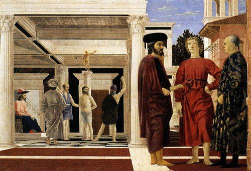 Piero della Francesca 1470.La Flagelación.Gallerie de Urbino