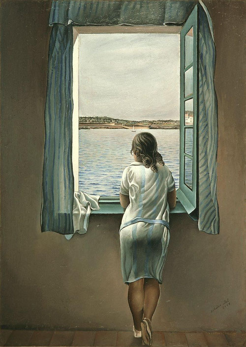 Dalí, Muchacha en la ventana, 1925