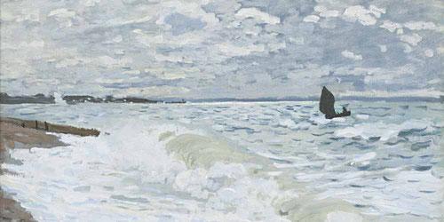Claude Monet.El mar en El Havre 1868.Óleo sobre lienzo 60x81cm.Carnegie Museum of Art, Pittsburgh.Con el tiempo la fractura entre ambas maneras de trabajar se fue ampliando al aire libre y en el estudio.