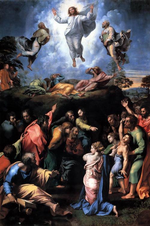 La Transfiguración,copia de un cuadro de Rafael realizado por Salvador Maella a finales del SXVIII. Colección particular.