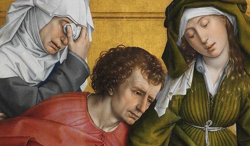Rogier van der Weyden pertenece a los primitivos pintores flamencos del gótico tardío o principios del Renacimiento en Flandes.Estos pintores del N.Europa imprimieron en sus trabajos una intensidad expresiva y minucioso detallismo con la técnica al óleo.
