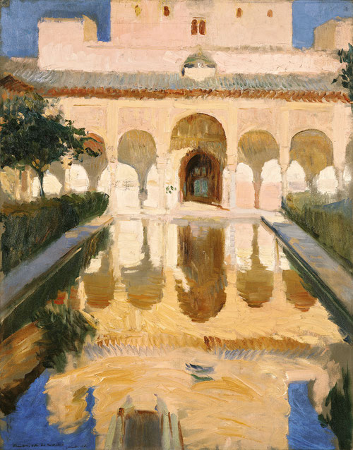 El agua, elemento islámico, y la frondosidad de sus fuentes a través de un juego de luces y sombras de estos jardines granadinos, toda una sinfonía sensorial.