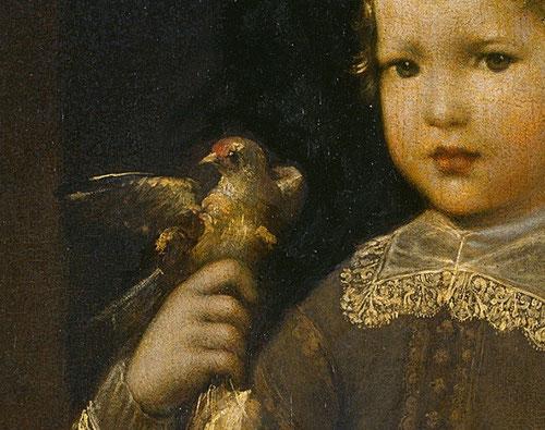 Taller de Diego Velázquez.El príncipe Baltasar Carlos. Detalle.