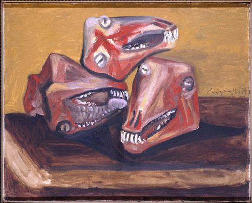 Tres cabezas de cordero 1939.Óleo sobre lienzo 65x89cm.Museo Nacional Centro de Arte Reina Sofía.