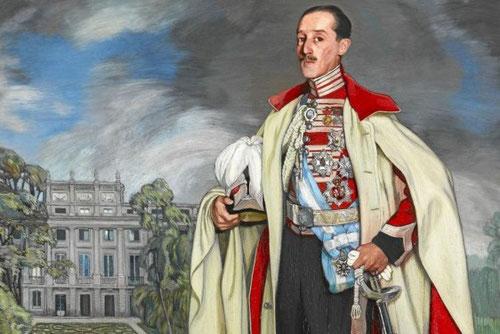 Retrato de Jacobo Fitz-James Stuart y Falcó, XVII duque de Alba, 1918,Ignacio Zuloaga. 217x167cm. De una gran fuerza expresiva, tras cielo borrascoso y plomizo.