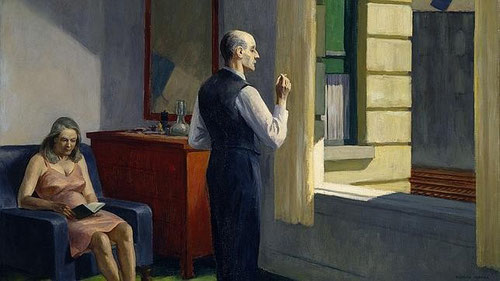 Hopper, Hotel junto al ferrocarril.79x101cm Óleo sobre lienzo. Hirshhorn Museum and Sculpture grden Washington.