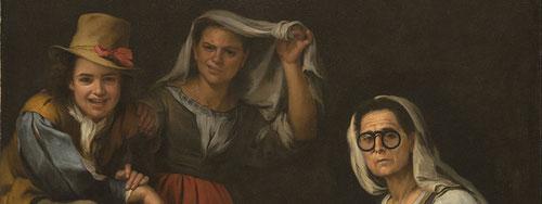 Bartolomé Esteban Murillo.Cuatro figuras en su escalón 1655.Texas Kimbell Art Museum.Las pinturas de Murillo muestran las ecenas de la vida cotidiana inspiradas en pintura holandesa