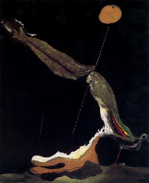 Dalí, Pájaro,pescado, 1928