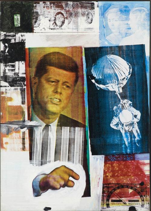 Robert Rauschenberg,RetroactivoII,1963.Óleo,serigrafía y tinta sobre lienzo.Chicago.