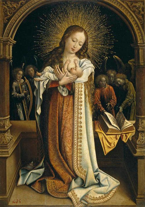 Bernard Van Orley, Virgen de la leche 1520.Óleo sobre tabla. Museo del Prado, Madrid.