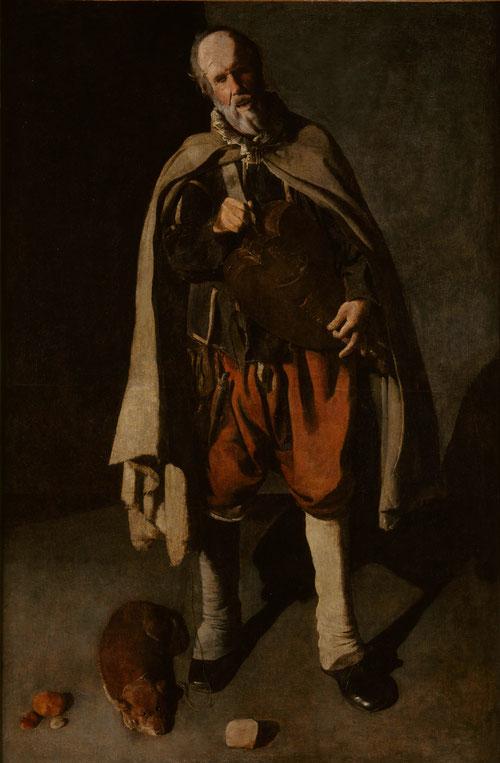 Tañedor de zanfonía con su perro.Óleo sobre lienzo.186x120cm.Musée de Mont-de-Pieté,Bergues. A pesar de su popularidad, la zanfonia no era muy apreciada por las autoridades pues veían una incitación al desorden,acompañado el ciego de su perro fiel.