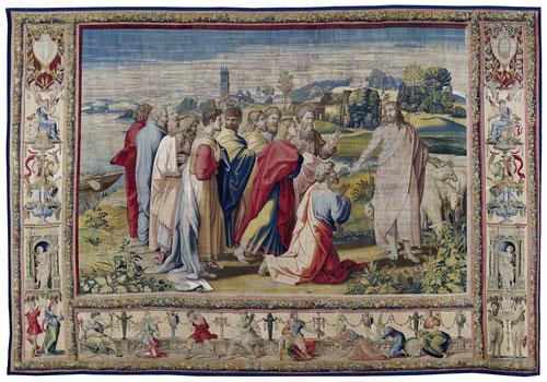 LA MISIÓN DE SAN PEDRO, APACIENTA A MIS OVEJAS. Jesucristo Resucitado le entrega las llaves de su Reino a San Pedro.