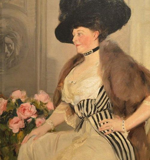 La Sra amiga de Mr Ryan,1913.Óleo sobre lienzo.117x90cm.Museo Nacional de Bellas Artes de la Habana, Cuba.