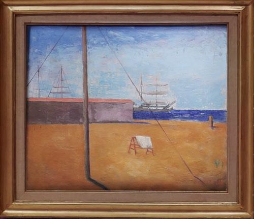 Carlo Carrá. Amanecer en la orilla del mar 1928. Colección particular,Suiza.