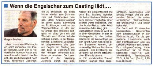 Buchvorstellung in der Stadtzeitung Bad Neuenahr-Ahrweiler (18.12.2019)