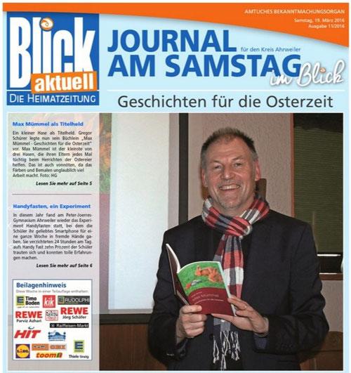 """Titelgeschichte in """"Blick aktuell"""" 11/2016 vom 19. März 2016"""