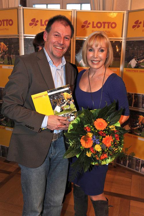"""2010 bei einer gemeinsamen Lesung im Koblenzer Schloss mit Heike Maurer, der """"Lotto-Fee"""" des ZDF"""