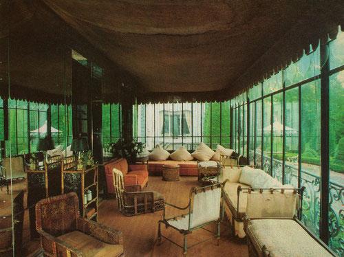 Sun room at Villas Trianon from W magazine