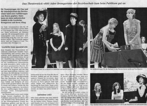 Bremgarter Bezirks-Anzeiger, 19. Mai 2009