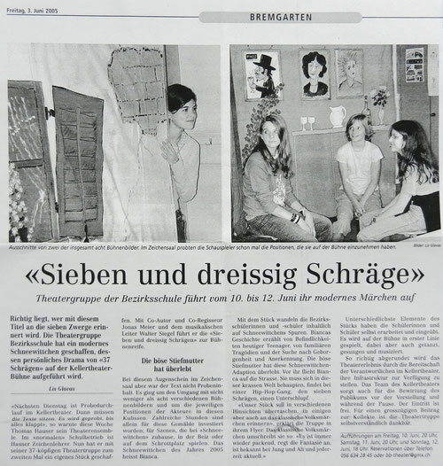 Bremgarter Bezirks Anzeiger, 3. Juni 2005