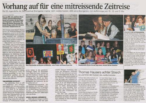 800 Jahre Bremgarten, 12. Mai 2009, Bericht von Lukas Schumacher