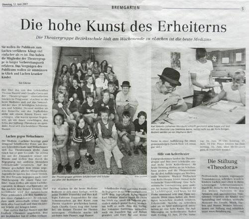 Bremgarter Bezirks Anzeiger, 12. Juni 2007