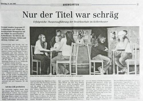 Bremgarter Bezirks Anzeiger, 14. Juni 2005