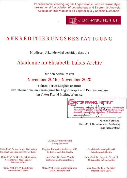 Viktor E. Frankl, E. Lukas und H. Schönfeld in einer Collage zur Logotherapie - Ausbildung